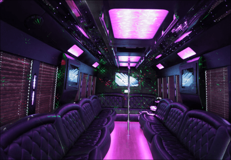 40 Passenger Party Bus Rental - Unlimited Charters