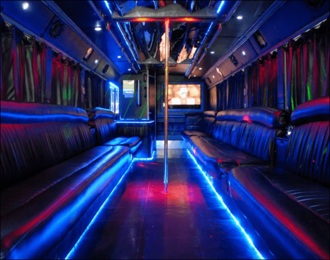50 Passenger Party Bus - Unlimited Charters